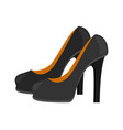 flat heels shoes vector image vector image