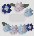 floral paper art card vector image vector image