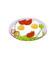 Fried Eggs Breakfast Food Element Isolated Icon vector image vector image