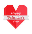 geometric heart shape valentine day vector image