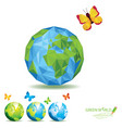 green world polygon vector image