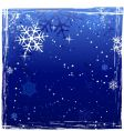 grunge winter background vector image vector image