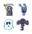halloween costume icon set cartoon style vector image