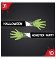 Halloween monster party vector image