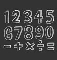 hand drawn numbers doodle numbers for childrens vector image