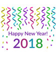 happy new year text with pink violet yellow green vector image