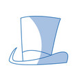 hat cylinder with ribbon icon symbol design vector image vector image