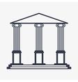 icon of university building vector image
