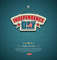 Independence day American signs background vector image vector image