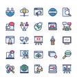 internet marketing icons pack vector image vector image