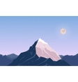 Landscape With Mountain Peak 6 vector image