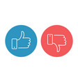 like and dislike icons set thumbs up and thumbs vector image vector image