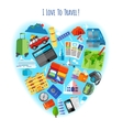 Love to travel concept icon poster vector image