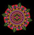 mandala tattoo flash art vector image vector image