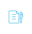 memo linear icon concept memo line sign vector image