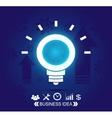 Neon business idea background vector image