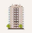 panel building with multiple floors with balconies vector image vector image