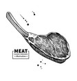 prime rib drawing beef pork or lamb red vector image