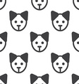 puppy seamless pattern vector image