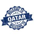 qatar round ribbon seal vector image vector image