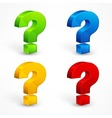 Question mark set vector image vector image