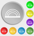 rainbow icon sign Symbol on eight flat buttons vector image vector image