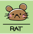 rat hand-drawn style vector image vector image