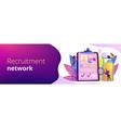 recruitment agency concept banner header vector image vector image