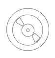retro vinyl record icon design vector image