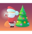 Santa Claus with firtree vector image vector image