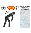 sciatica back pain icon with 1300 medical business vector image vector image