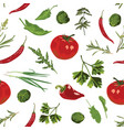 seamless pattern with herbs vector image