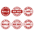 Set of Black Friday stamps vector image