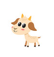 set of cartoon funny goats isolated on vector image vector image