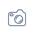 silhouette of the camera a camera icon for vector image vector image