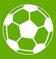 soccer ball icon green vector image vector image