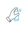 spray deodorant thin line stroke icon vector image