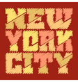 T shirt graphics New York drawn vector image vector image