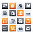 web site and internet icons over color background vector image vector image