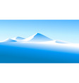 winter landscape with high mountains vector image vector image