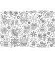 winter seamless pattern with decorative fancy vector image vector image