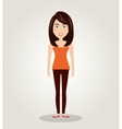 character female standing human resources icon vector image