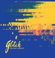 glitch signal error background in duotone colors vector image