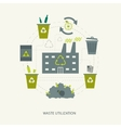 Recycling garbage and waste utilization concept vector image