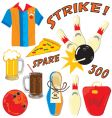 bowling party clip art icons