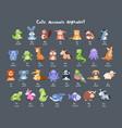 cartoon animals collection vector image
