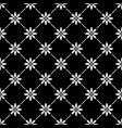 geometric seamless white pattern in with flowers o vector image