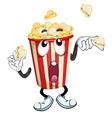a popcorn vector image vector image