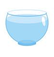 aquarium empty round isolated glass fishbowlon vector image vector image
