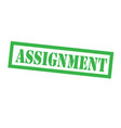assignment stamp on white vector image vector image